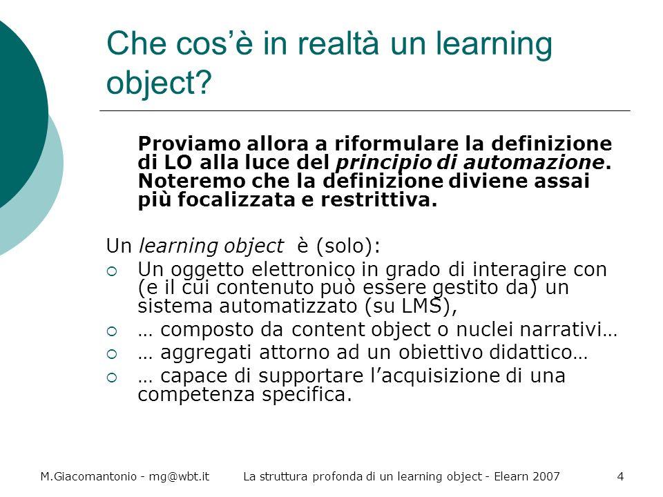 Che cos'è in realtà un learning object