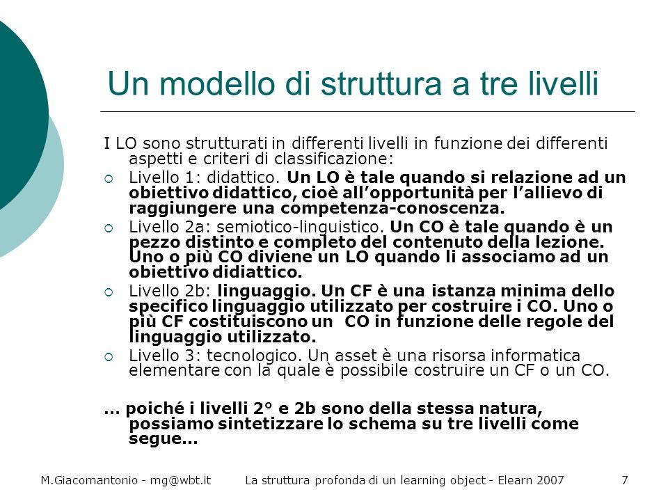 Un modello di struttura a tre livelli