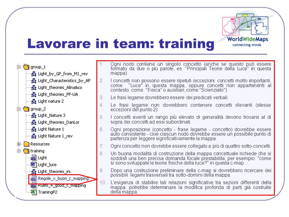 Lavorare in team: training
