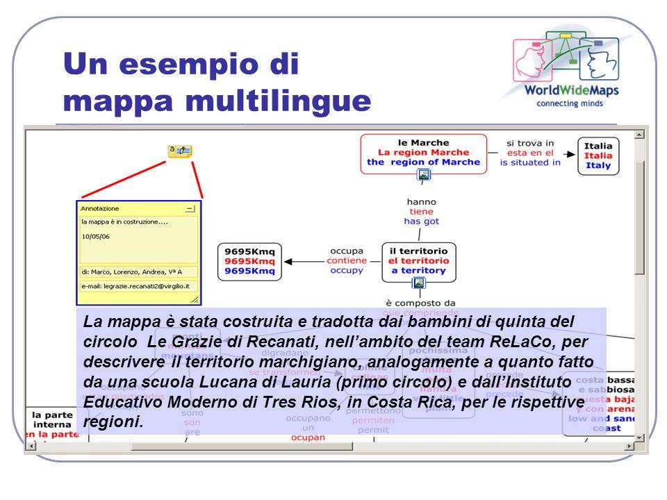 Un esempio di mappa multilingue