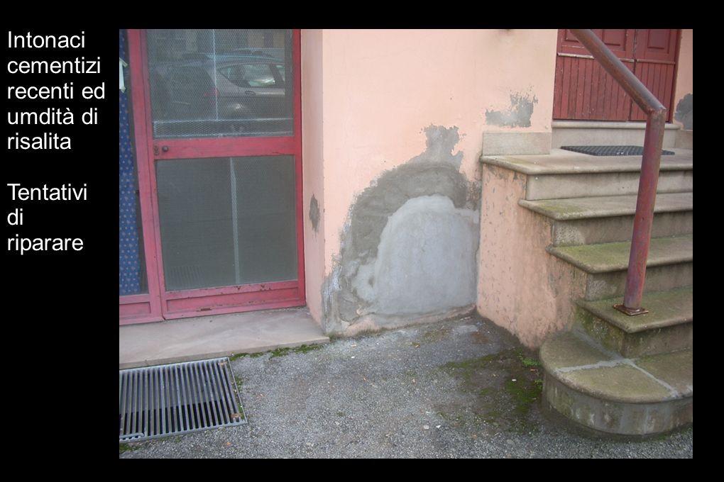 Intonaci cementizi recenti ed umdità di risalita