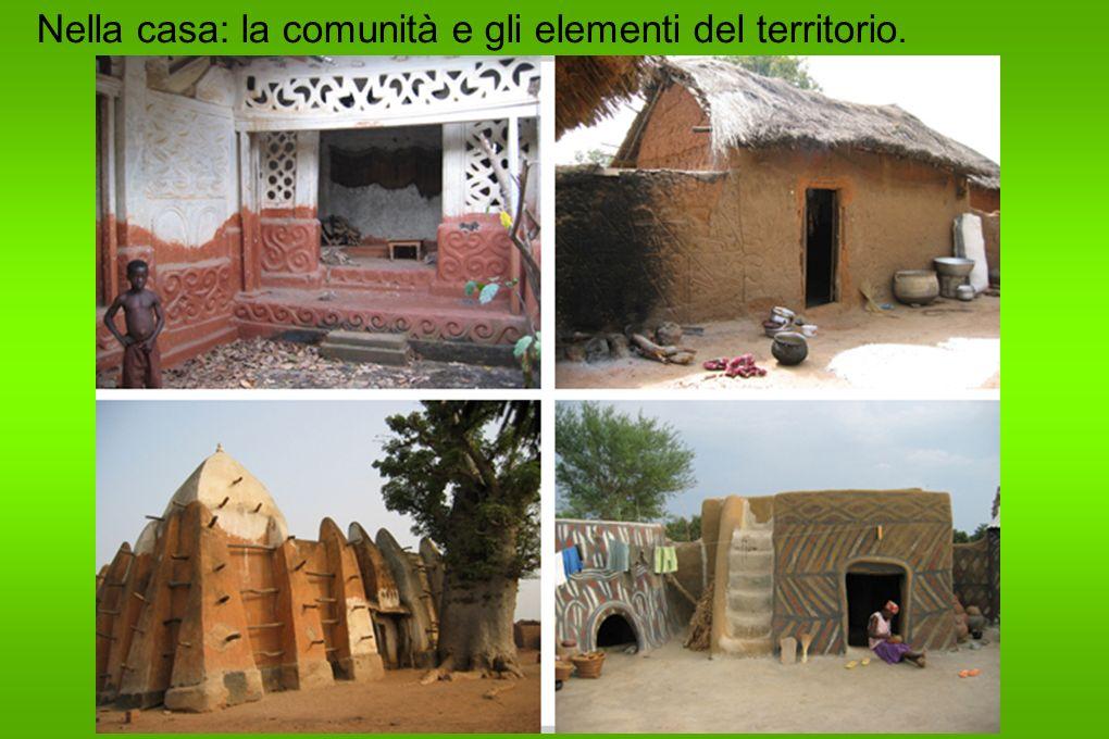 Nella casa: la comunità e gli elementi del territorio.