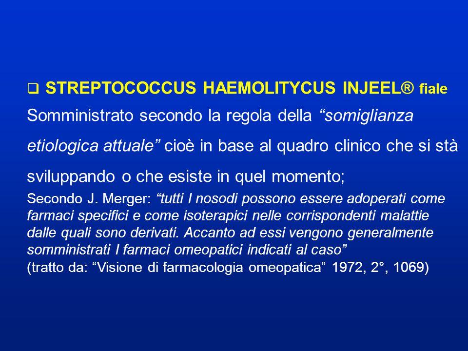 STREPTOCOCCUS HAEMOLITYCUS INJEEL® fiale
