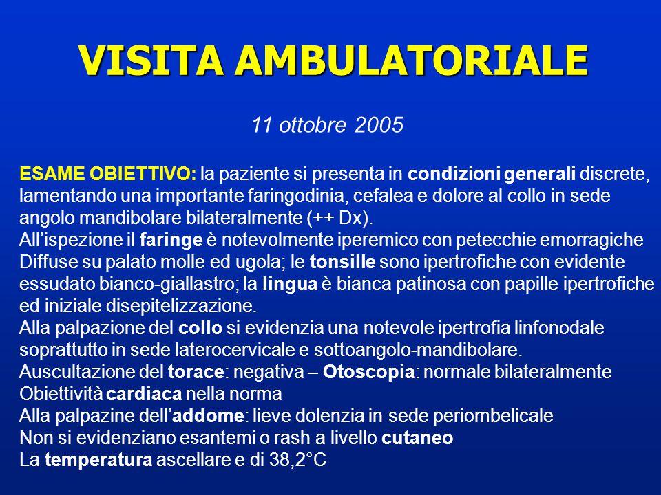 VISITA AMBULATORIALE 11 ottobre 2005