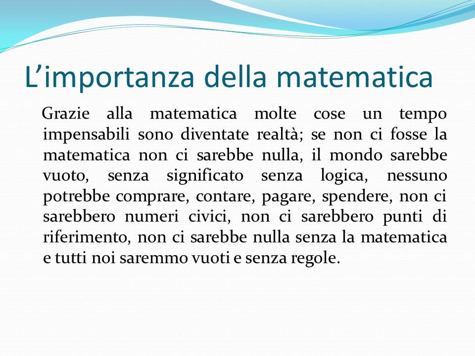 L'importanza della matematica