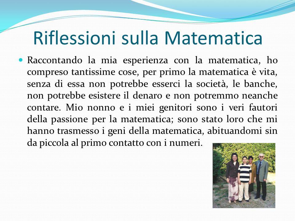 Riflessioni sulla Matematica