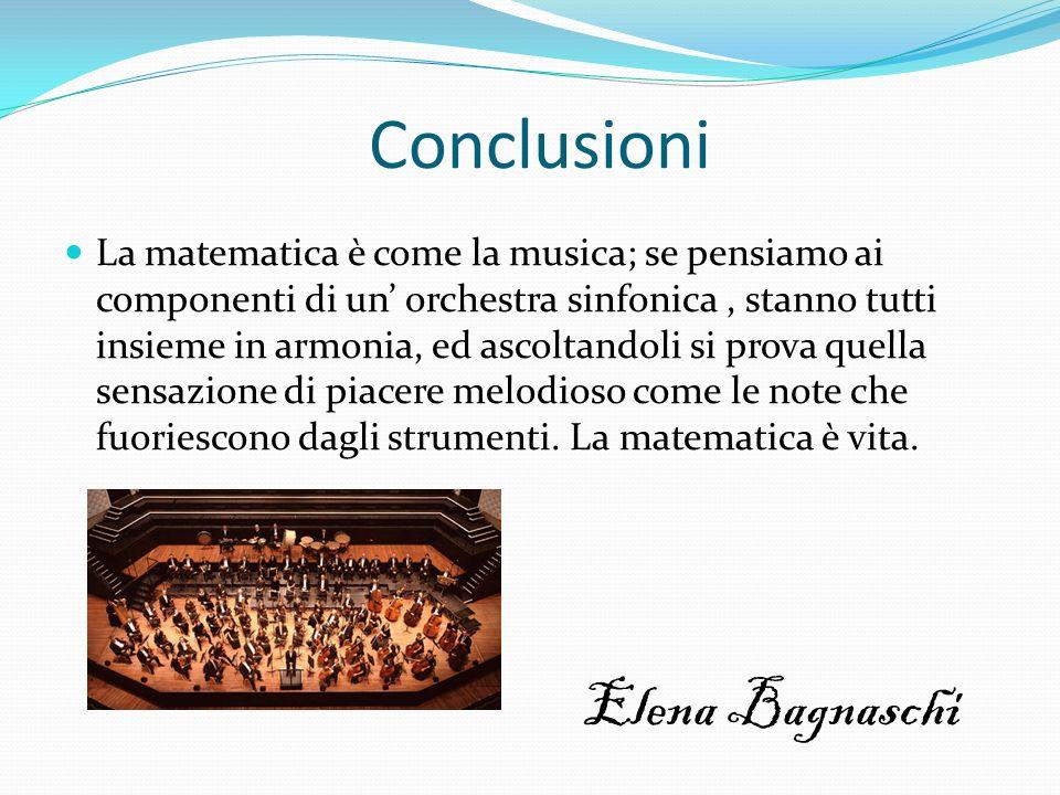 Conclusioni Elena Bagnaschi