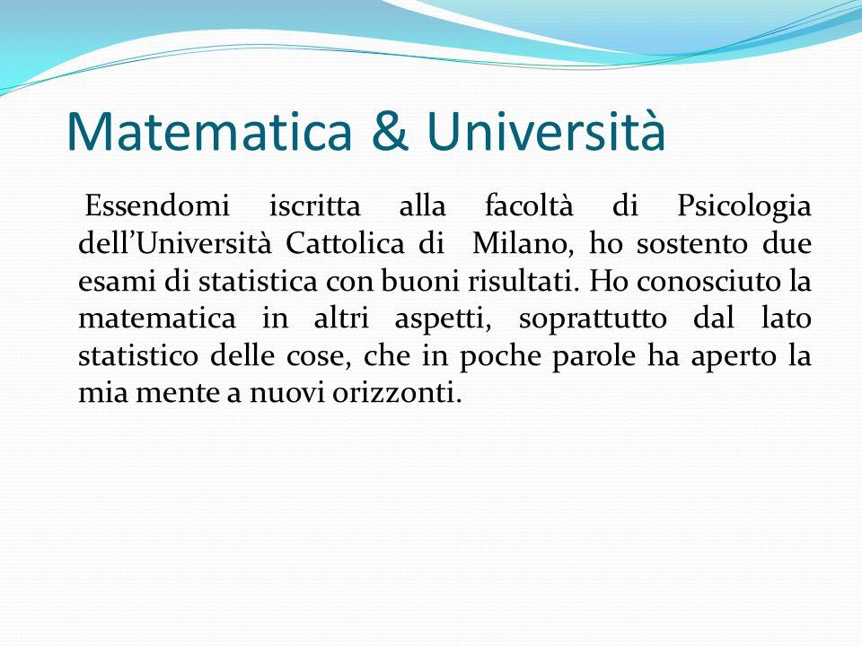 Matematica & Università
