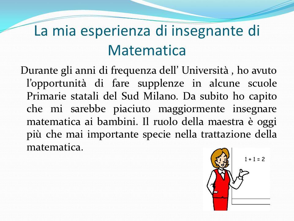 La mia esperienza di insegnante di Matematica