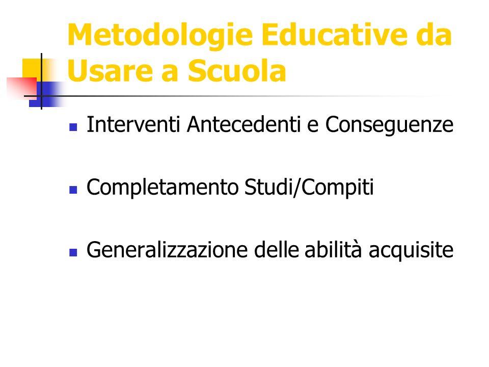 Metodologie Educative da Usare a Scuola