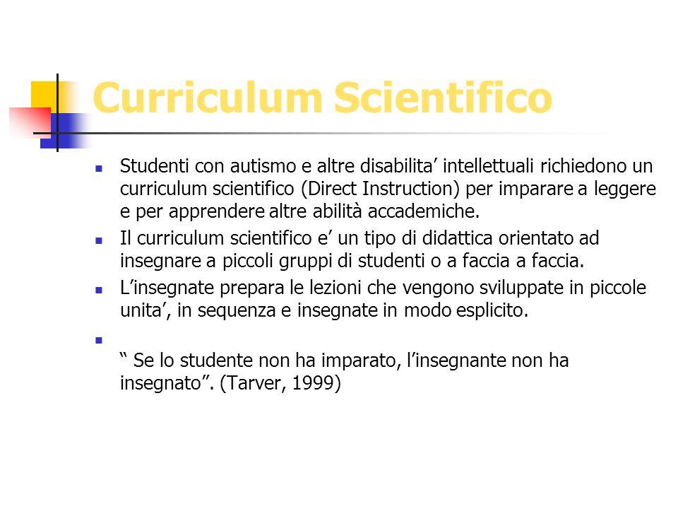Curriculum Scientifico