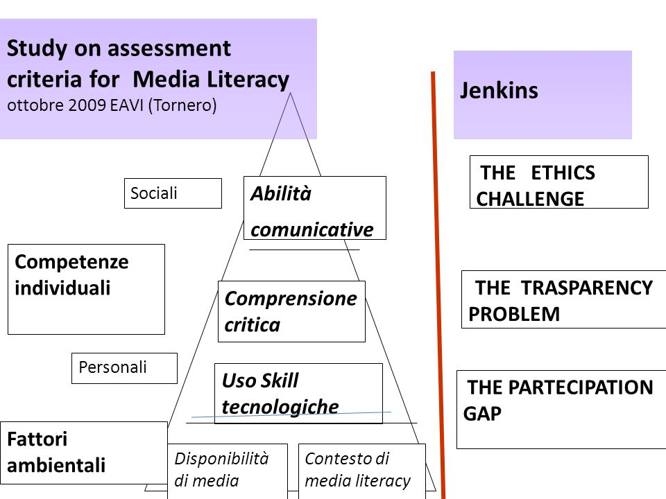 criteria for Media Literacy Jenkins