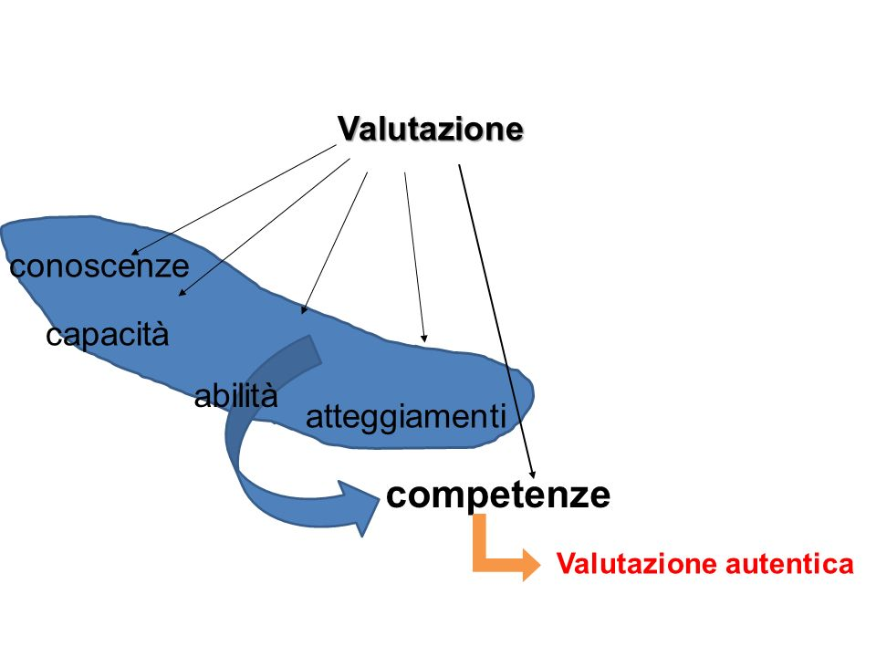 competenze Valutazione conoscenze capacità abilità atteggiamenti