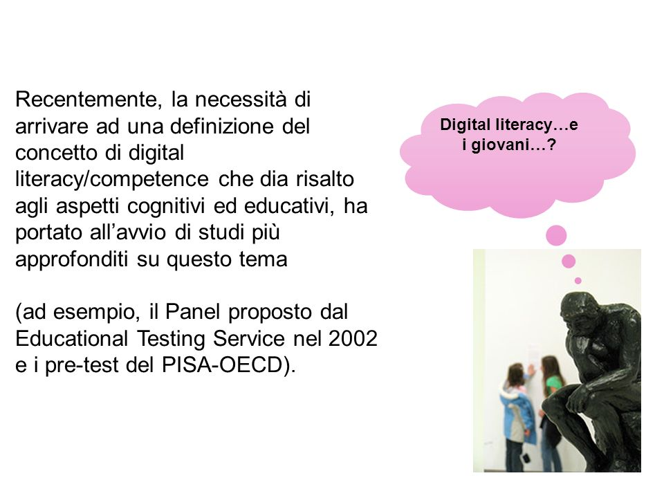Digital literacy…e i giovani…