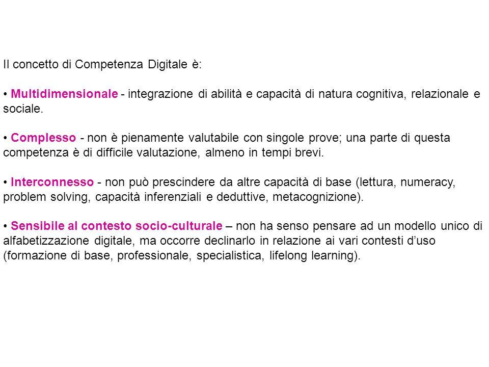Il concetto di Competenza Digitale è: