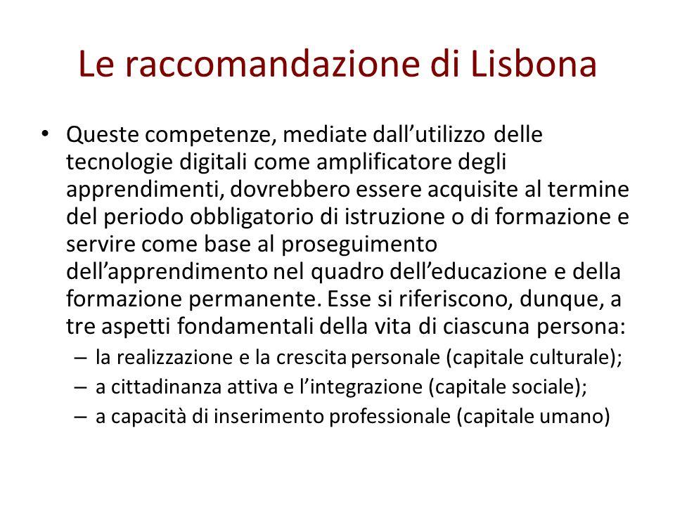 Le raccomandazione di Lisbona