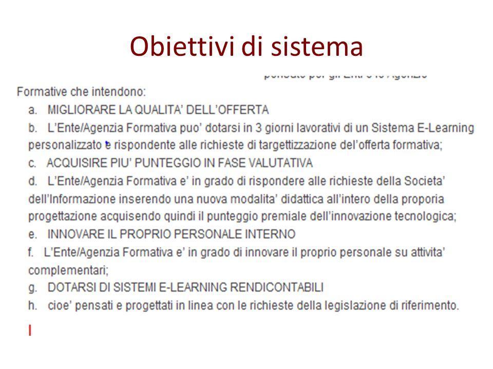 Obiettivi di sistema
