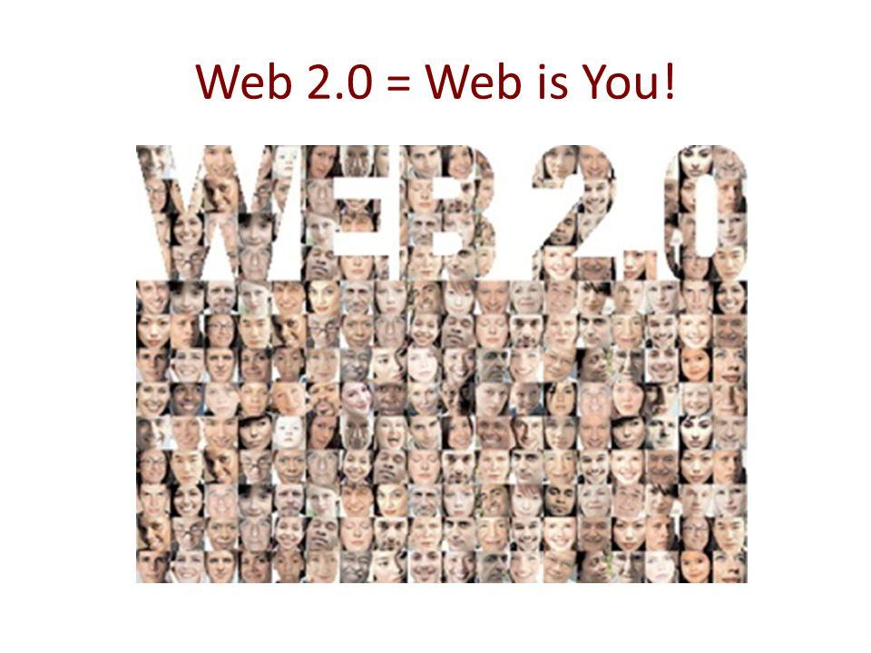 Web 2.0 = Web is You! Elevato rischio di buzzowrd