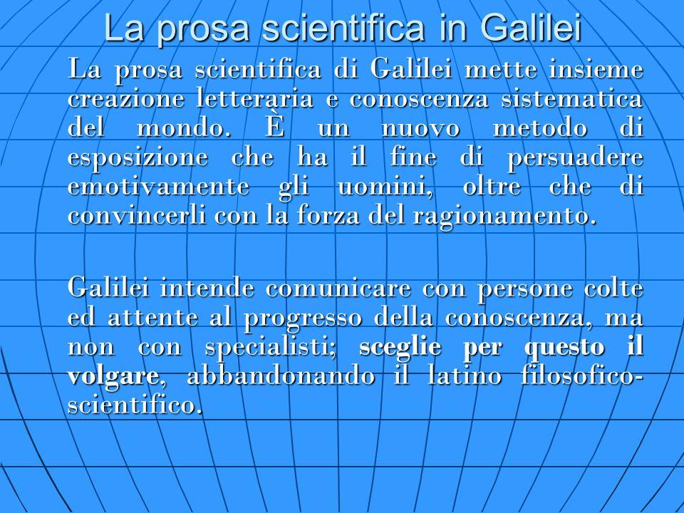 La prosa scientifica in Galilei