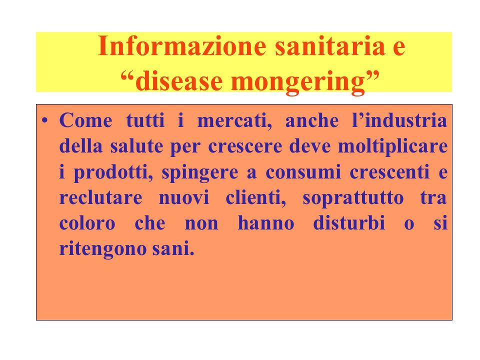 Informazione sanitaria e disease mongering