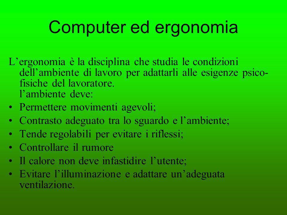 Computer ed ergonomia