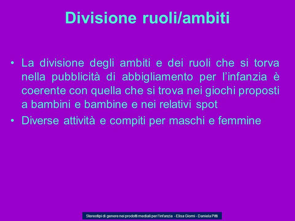 Divisione ruoli/ambiti