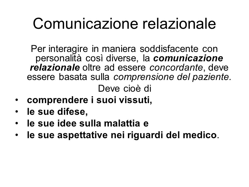 Comunicazione relazionale