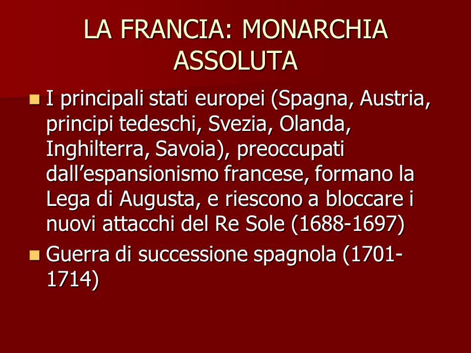 LA FRANCIA: MONARCHIA ASSOLUTA