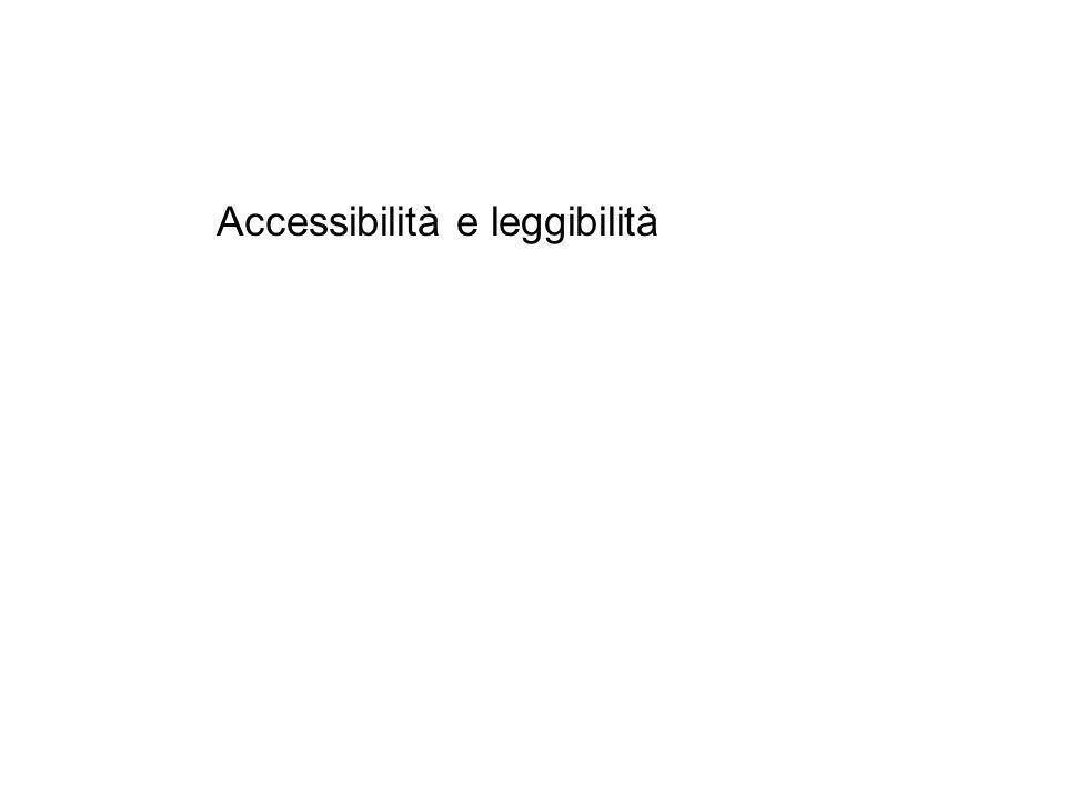 Accessibilità e leggibilità
