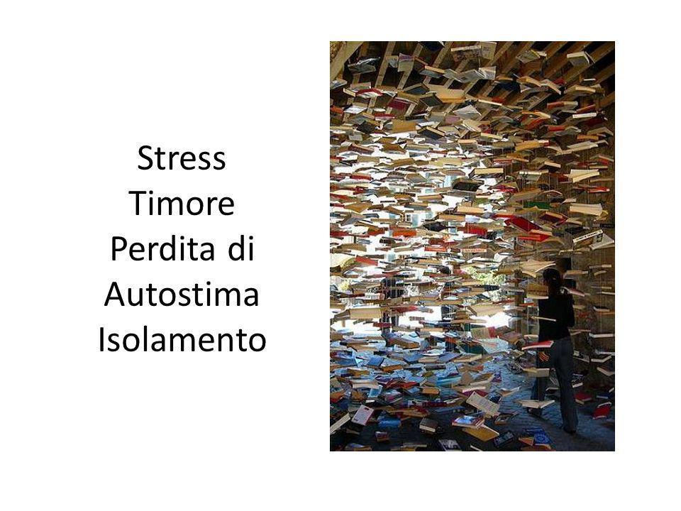Stress Timore Perdita di Autostima Isolamento