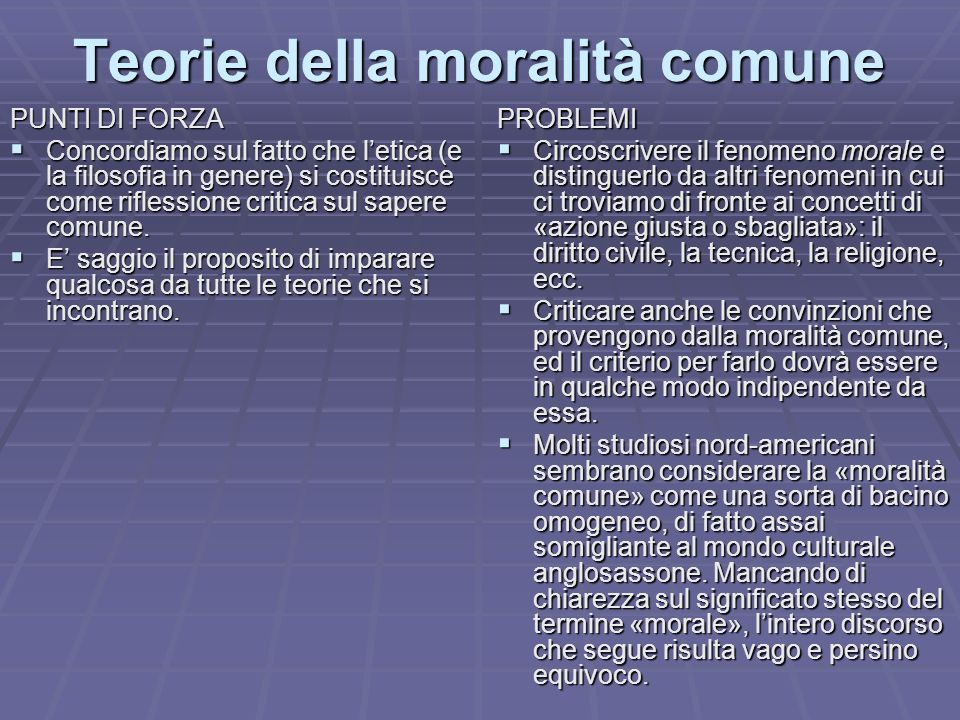 Teorie della moralità comune