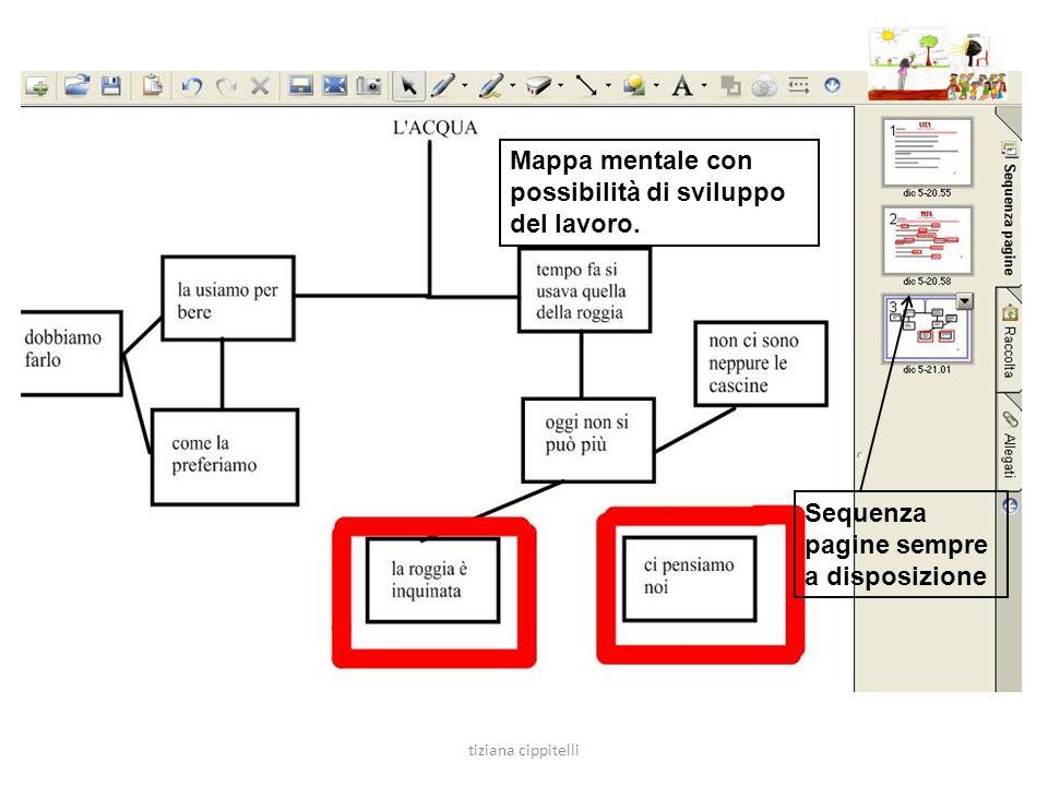 Mappa mentale con possibilità di sviluppo del lavoro.