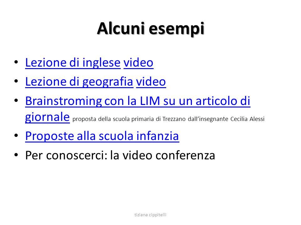Alcuni esempi Lezione di inglese video Lezione di geografia video