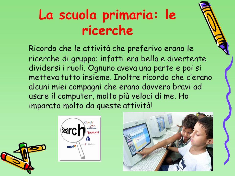La scuola primaria: le ricerche