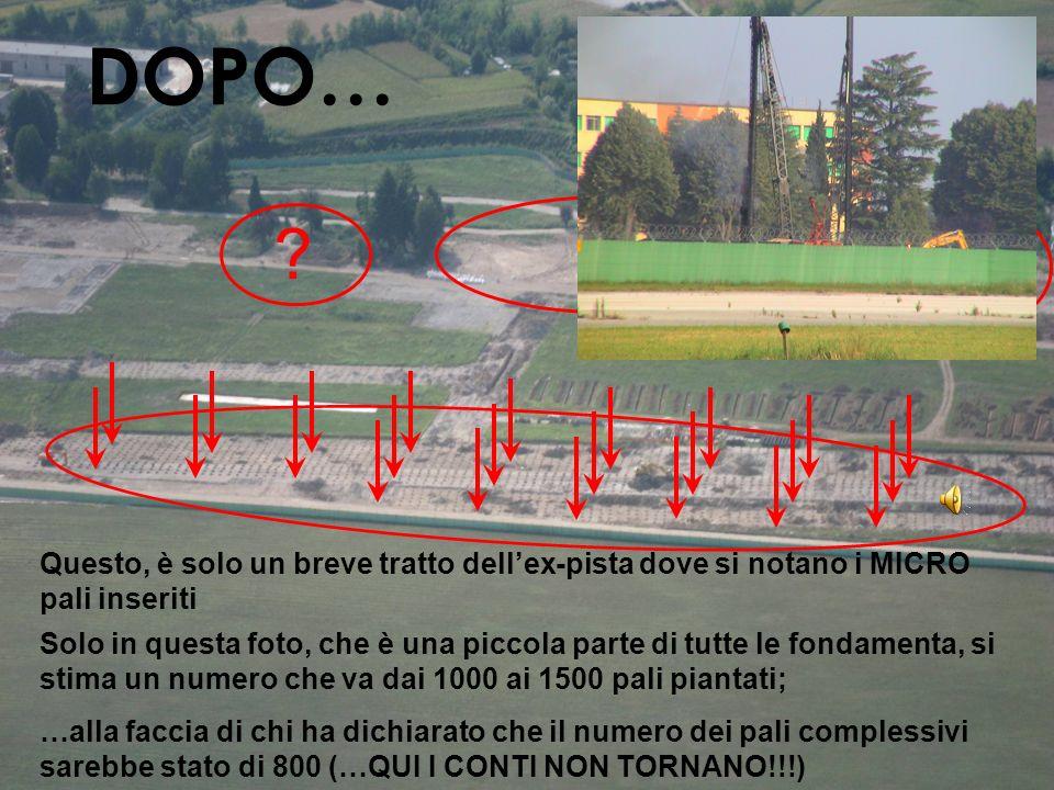 DOPO… Questo, è solo un breve tratto dell'ex-pista dove si notano i MICRO pali inseriti.
