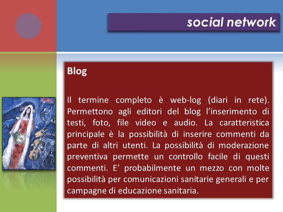 social network Blog.