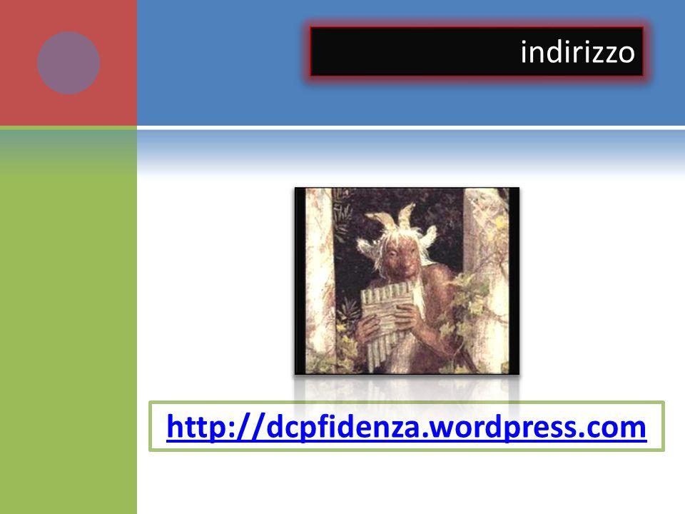 indirizzo http://dcpfidenza.wordpress.com
