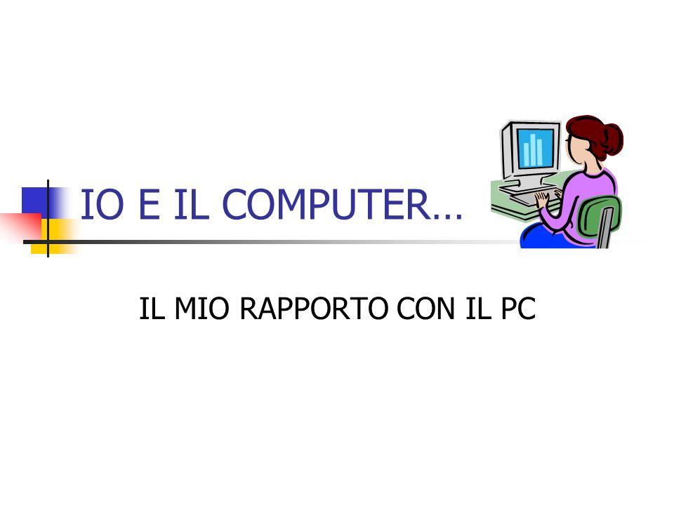 IL MIO RAPPORTO CON IL PC