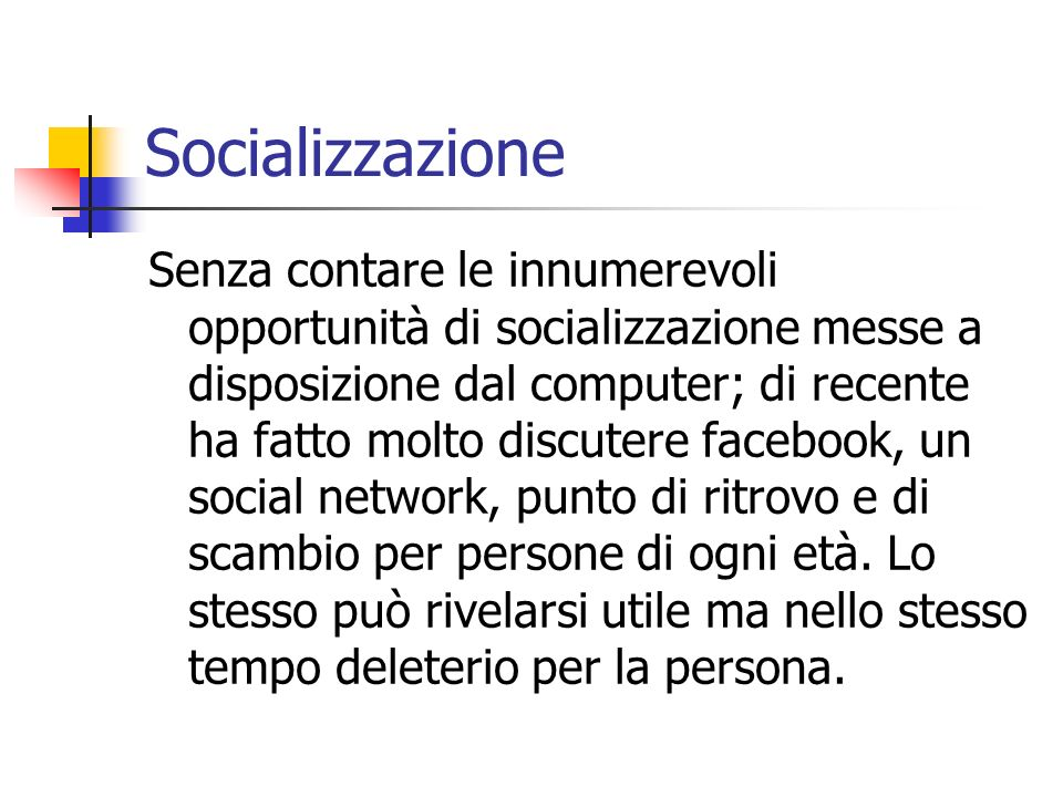 Socializzazione