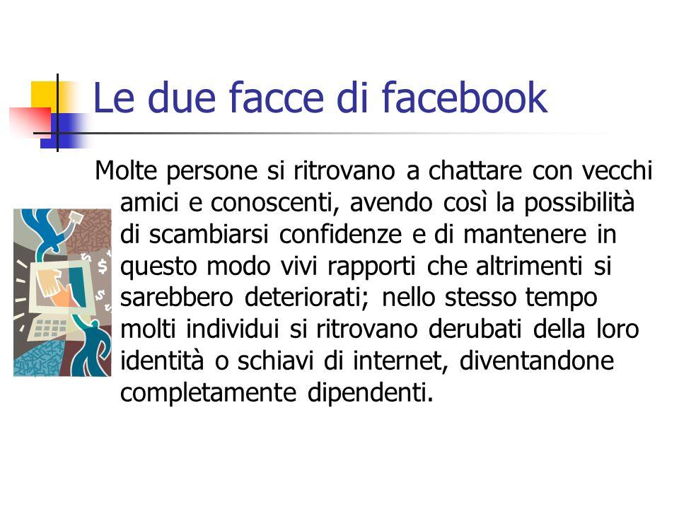 Le due facce di facebook