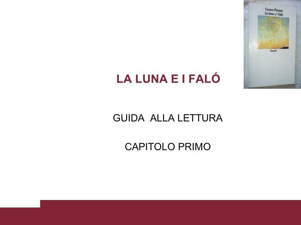 GUIDA ALLA LETTURA CAPITOLO PRIMO