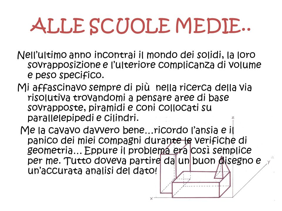 ALLE SCUOLE MEDIE..