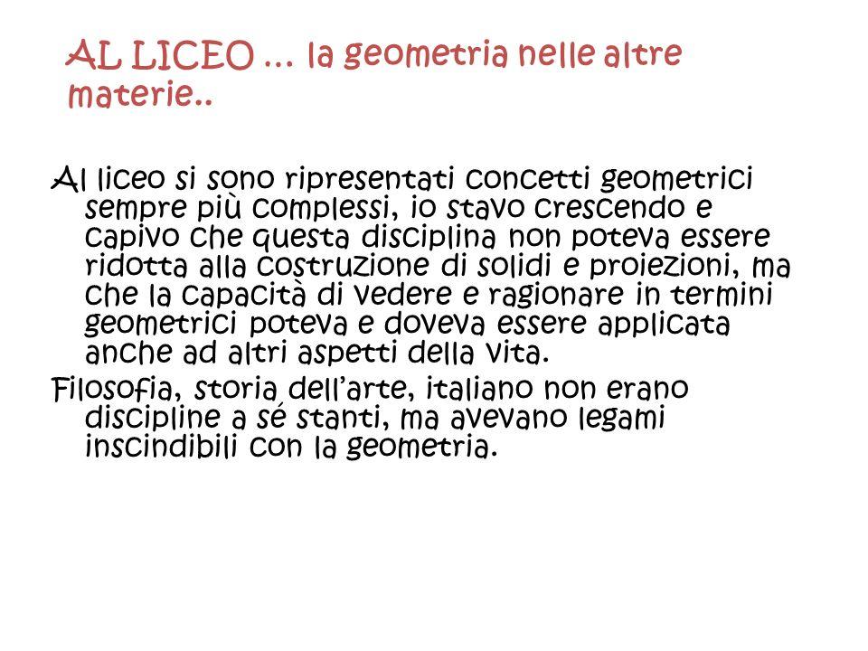 AL LICEO … la geometria nelle altre materie..