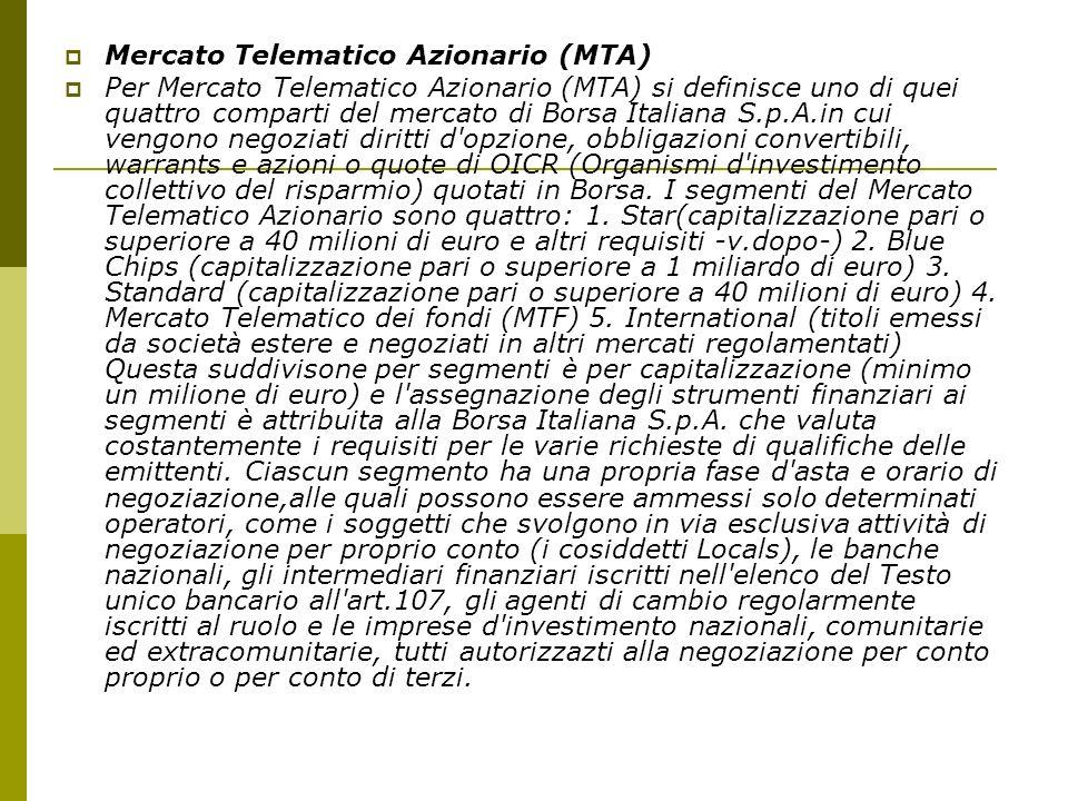 Mercato Telematico Azionario (MTA)