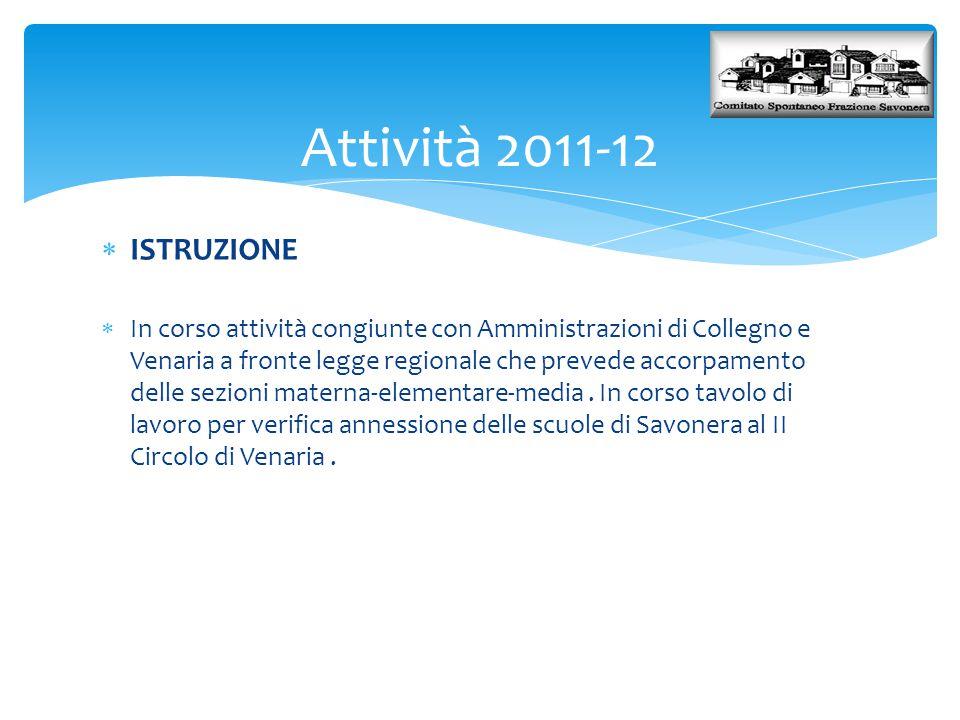 Attività 2011-12 ISTRUZIONE.