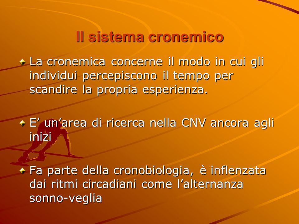 Il sistema cronemicoLa cronemica concerne il modo in cui gli individui percepiscono il tempo per scandire la propria esperienza.
