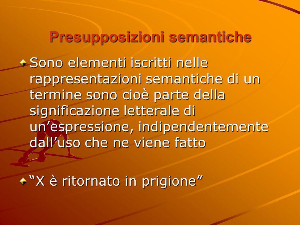 Presupposizioni semantiche