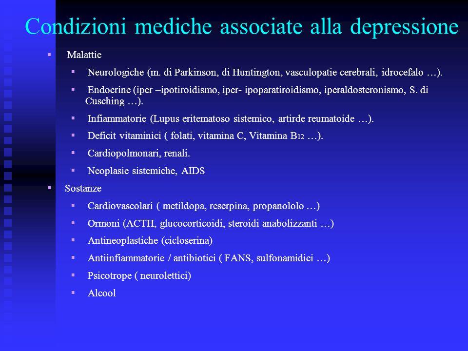 Condizioni mediche associate alla depressione
