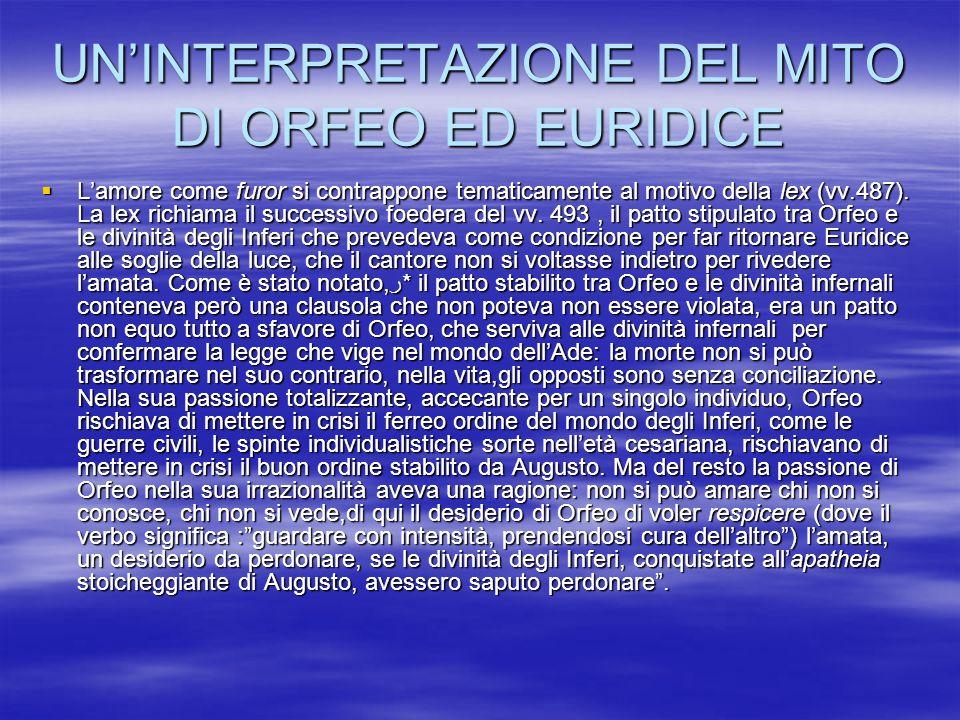 UN'INTERPRETAZIONE DEL MITO DI ORFEO ED EURIDICE