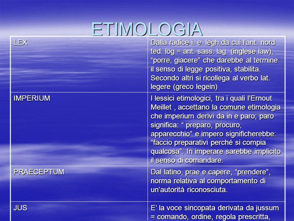 ETIMOLOGIA LEX.